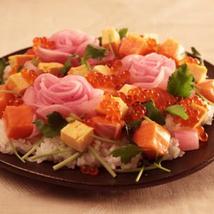 ゆかり大根の親子ちらし寿司