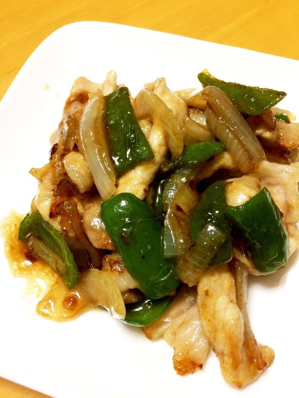 豚薄切り肉&玉葱とピーマンの生姜焼き