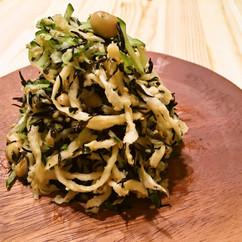 大豆とひじきと切干大根のサラダ