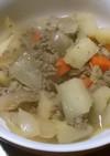 麺つゆで手軽に生姜風味の煮物