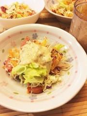 コンビニ野菜で!簡単!柿サラダの写真