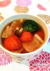 朝食に簡単5分☆トマト&紅茶の特製スープ