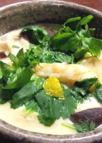緑麺の小田巻蒸し(茶碗蒸し)グランシェフ