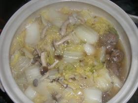 ジューシー♪白菜と肉団子のお鍋