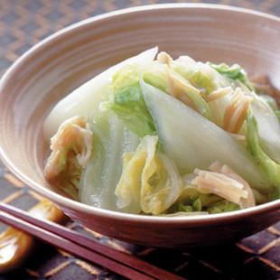 白菜と帆立ての蒸し煮