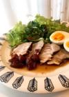 豚肉の紅茶煮♪バルサミコとトマトのソース