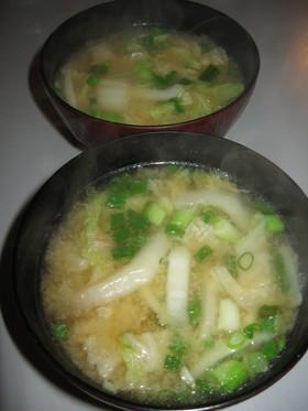 シャキシャキ白菜のお味噌汁