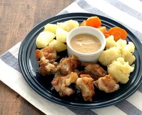和風テイストな鶏肉と野菜のコンフィ