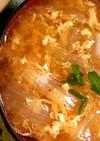韓国風 海鮮キムチたまごスープ