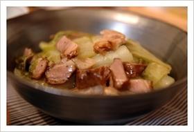 LE CREUSETで無水白菜コンソメ煮