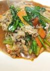 小松菜と牛肉の焼肉のタレマヨ焼き♪