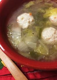 10分で出来る超手抜きな鶏団子スープ☆