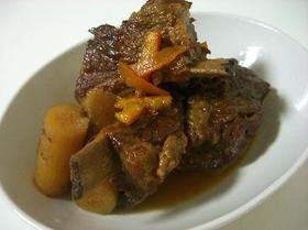 スペアリブと牛蒡のマーマレード煮