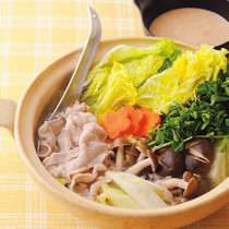 豚と白菜と豆苗の塩鍋