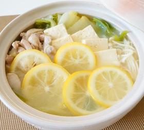 ビタミンたっぷり♪塩レモン鍋