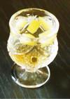 クラッシュ梅酒+メープルシロップ♪