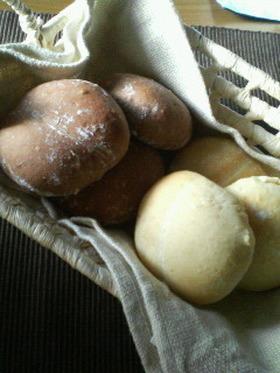 ふわふわ~♪ハイジの白パン&黒パン