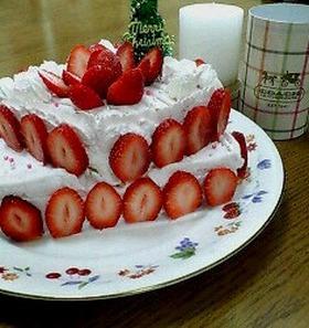 二段重ねショートケーキ