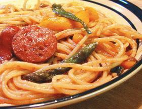 バルサミコ風味のスパゲッティ