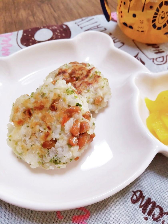 離乳食☆納豆と玉ねぎのご飯おやき