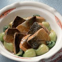 青梗菜入りの中国風さばのみそ煮