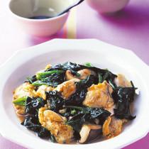 ほうれん草とかきの中華煮