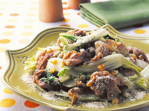 豚肉と白菜のチーズ炒め