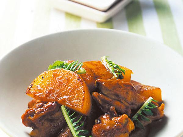 鶏肉と大根のカレー照り煮