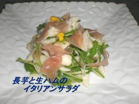 長芋と生ハムのイタリアンサラダ