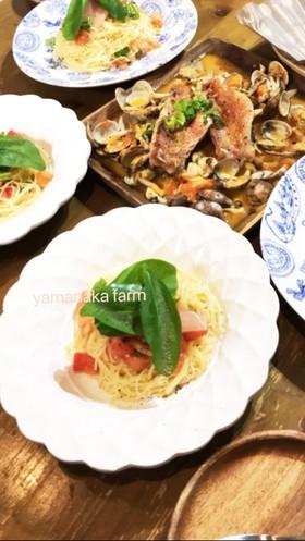 しあわせのファーストトマトのカッペリーニ