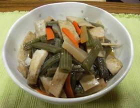 タコマンマの蒲鉾とふきの油炒め