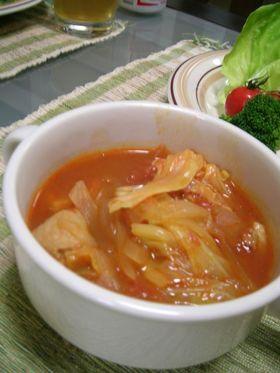チキンとキャベツのトマトシチュー☆