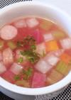 紅くるり大根とセロリのスープ