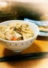 里芋と鶏ごぼう 舞茸の炊き込みご飯
