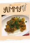 ズボラ飯 南瓜と挽肉の焼肉丼