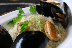 ムール貝のチーズリゾット