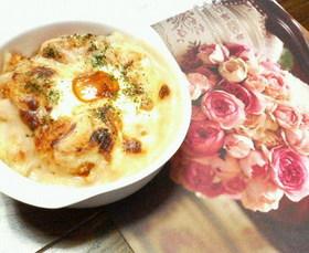 ✿残りご飯で❀簡単✿花ドリア
