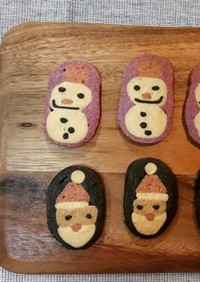 アイスボックスクッキー~サンタと雪だるま