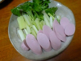 お魚ソーセージのサラダ
