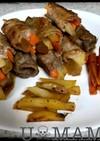 野菜とドライパインの肉巻き