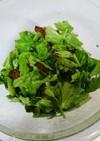 セロリの葉っぱのサラダ