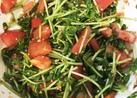 豆苗とトマトの和風サラダ♡