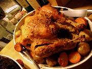 ロースト・ターキー 七面鳥の丸焼きの写真