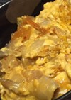 マヨでまろやか♪キムチの卵とじ丼