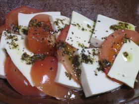 トマトと豆腐のイタリアンサラダ