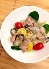 牡蠣と生ハムのホットマリネ