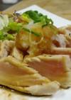 まぐろステーキ☆オリーブ油ポン酢ソース