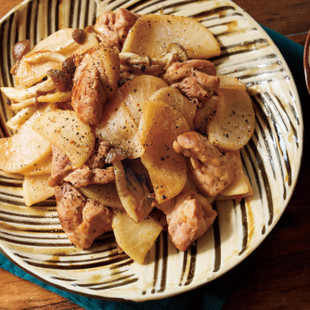 大根と鶏もものみそバター炒め