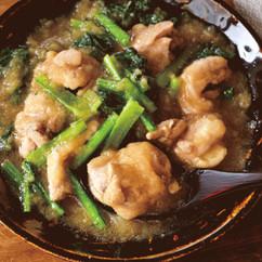 鶏ももと小松菜のおろし煮