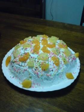 生クリームいっぱい♡ドーム型ケーキ